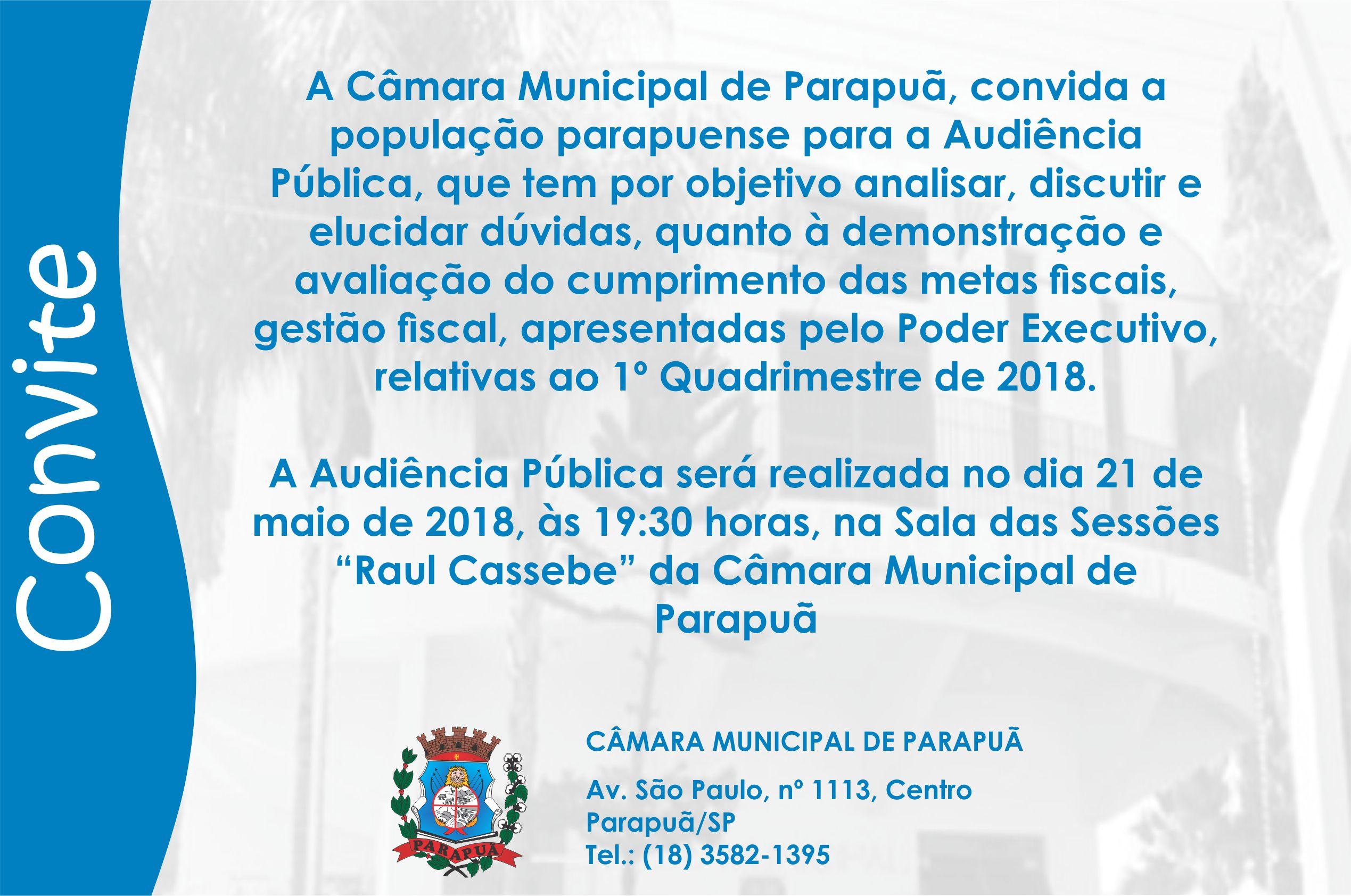 Audiência Pública - 21/05/2018